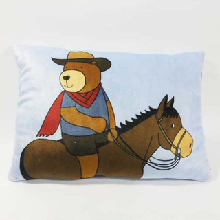 Custom Factory OEM Soft Plush Cowboy Bear Pillow