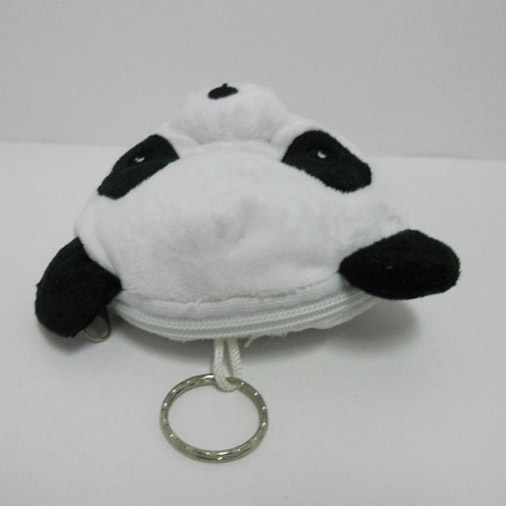 Cute Soft Plush Panda Shaped Coin Purse for Kids