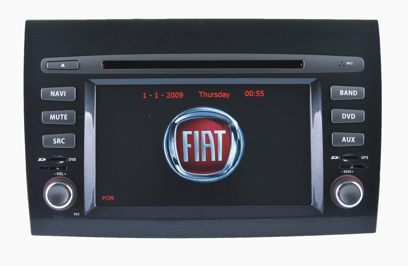 "6.2""FIAT Bravo Android Car Stereo Carplay Android 9.0 Phone Connections Gps Navigation"