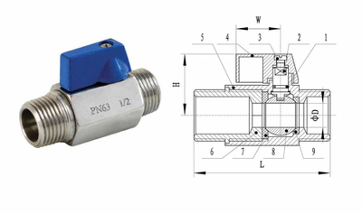 Min Ball Valve with Male Thread (YZF-V01)