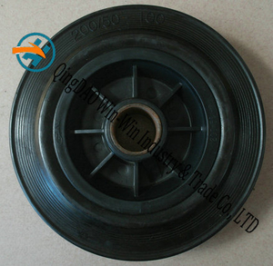 Solid Rubber Wheel Used on Castor Wheel (200/50-100)