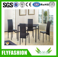 canteen dining coffee black tables with metal frame chair DT-19