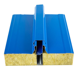Corrugated Fireproof Rock Wool Roof Sandwich Panel