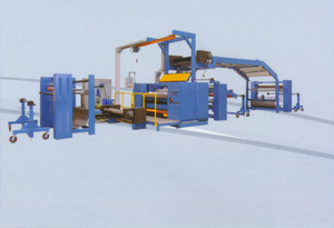 Hot-melt (PUR) lamination machine