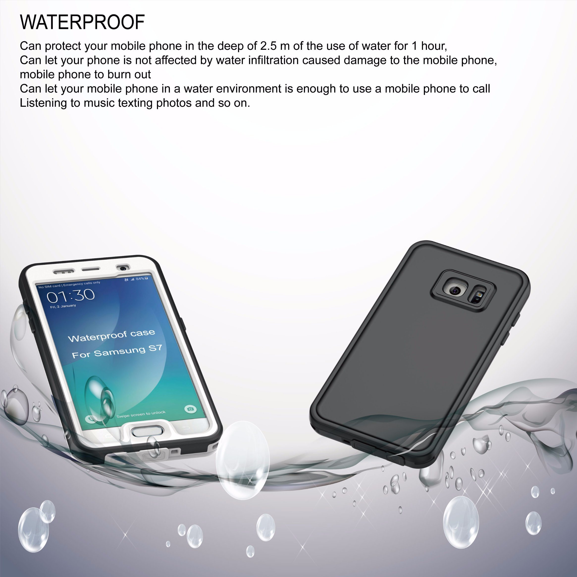 2017 Waterproof Super Slim Cell Phone Cover Case for Samsung S7