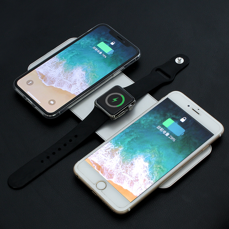 Wholesale Universal 3in1 Wireless Charger for IPhone QI Wireless Charger Fast Wireless Charger for Apple Watch Desktop Wireless Fast Charger for Smartphone