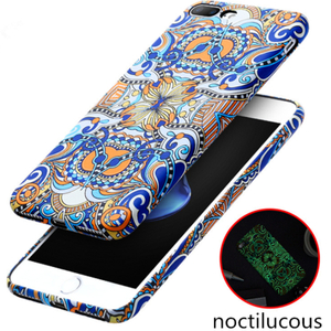 Ethnic Style Mobile Phone Case TPU Soft Cell Phone Luminous Case for IPhone X Protective Shockproof Phone Case