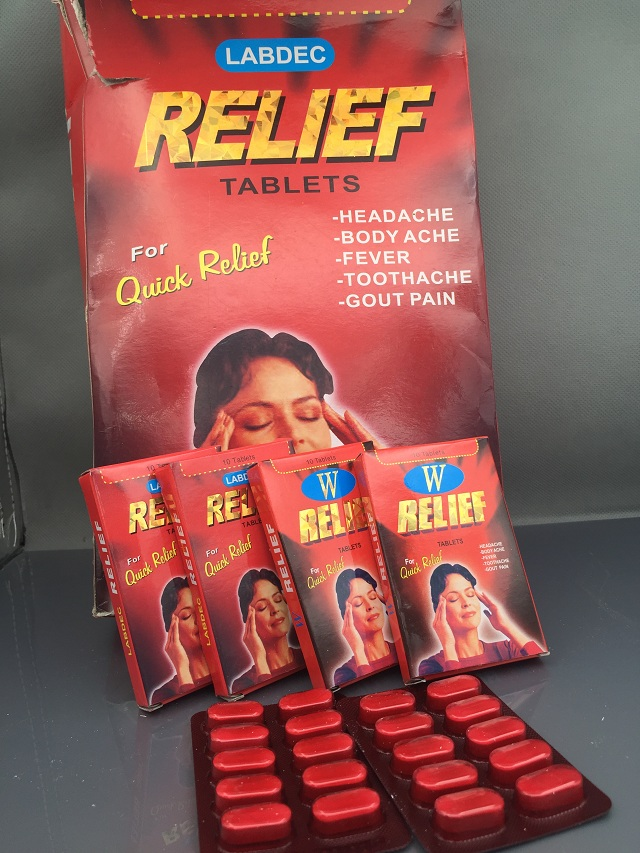 Relief tablet
