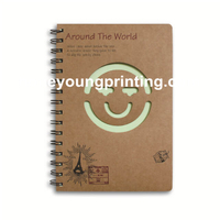 Spiral binding notebook with hollow graphic