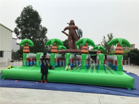 RB9021(10x6m)Inflatable running track/inflatable jungle truck