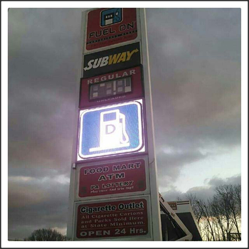 gas station led sign