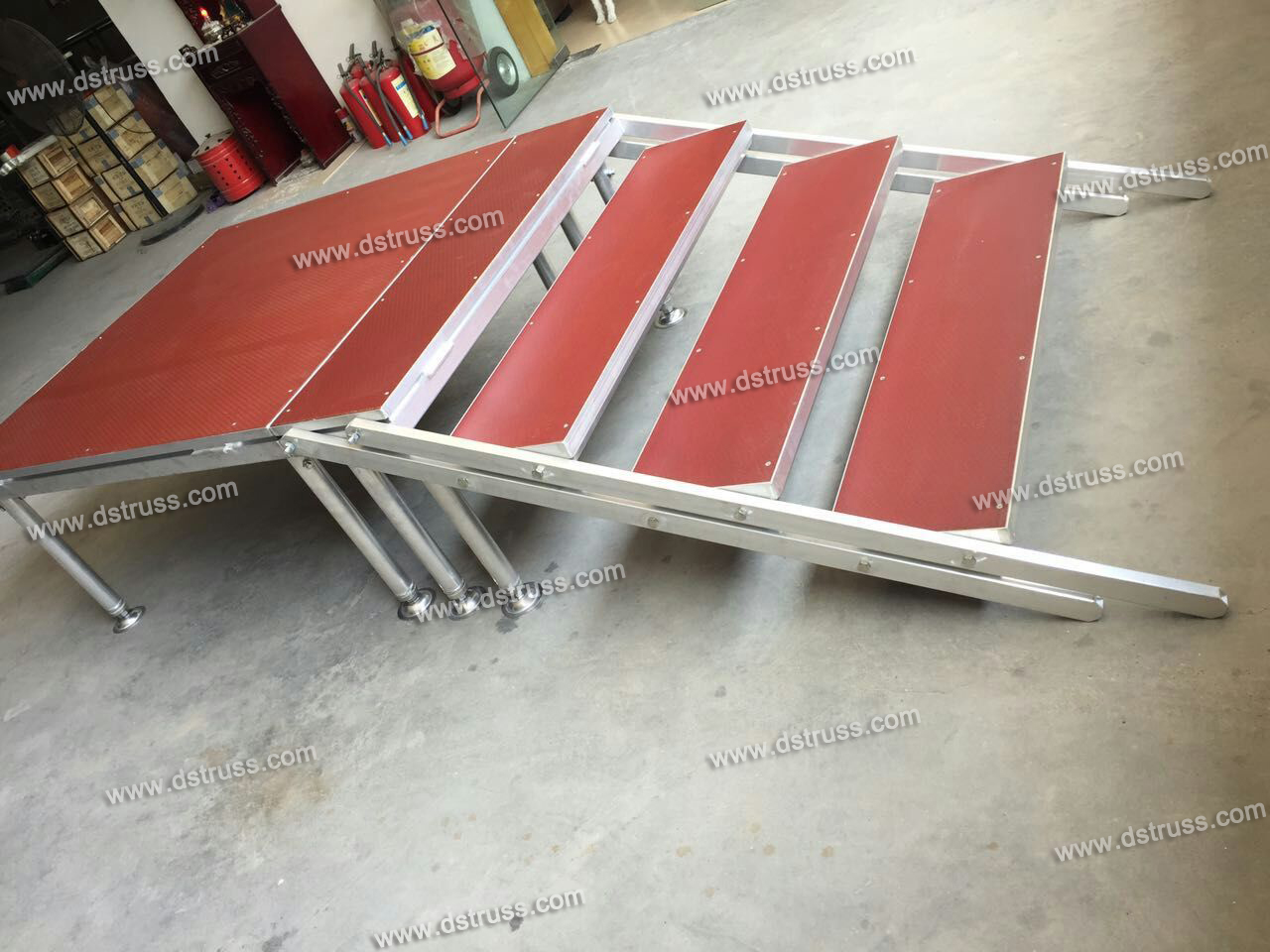 Aluminum Alloy Simple Glass Stage