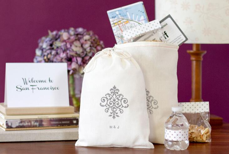 結婚の歓迎された袋