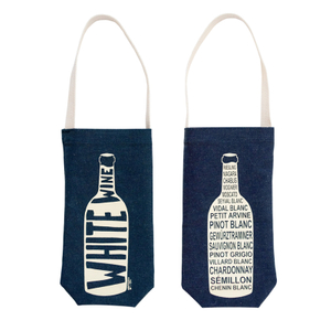 Denim Single Bottle Wine Tote Bag