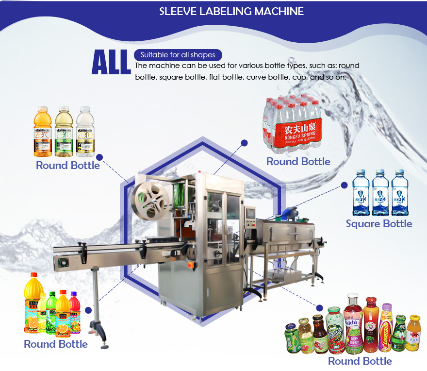 Automatic Shrink Sleeve Labeling Machine display