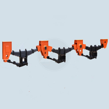 Tri-Axle American Type Overslung Suspension With Leaf Springs
