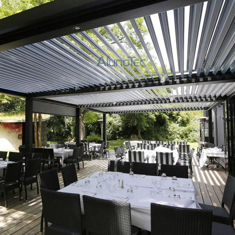 Motorized Louvered Pergola Roof Waterproof Covers