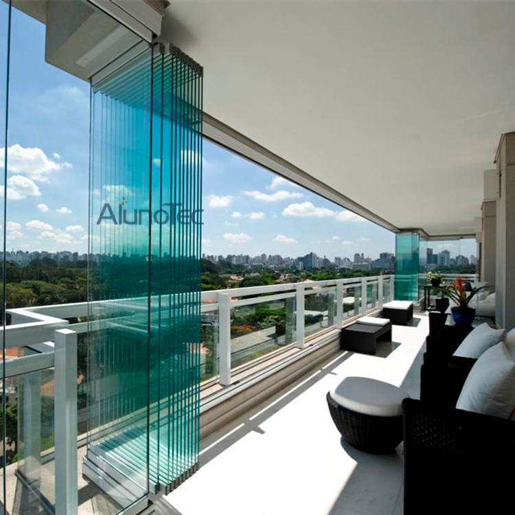 Bi folding glass doors and aluminum frameless bifold glass for Retractable glass doors