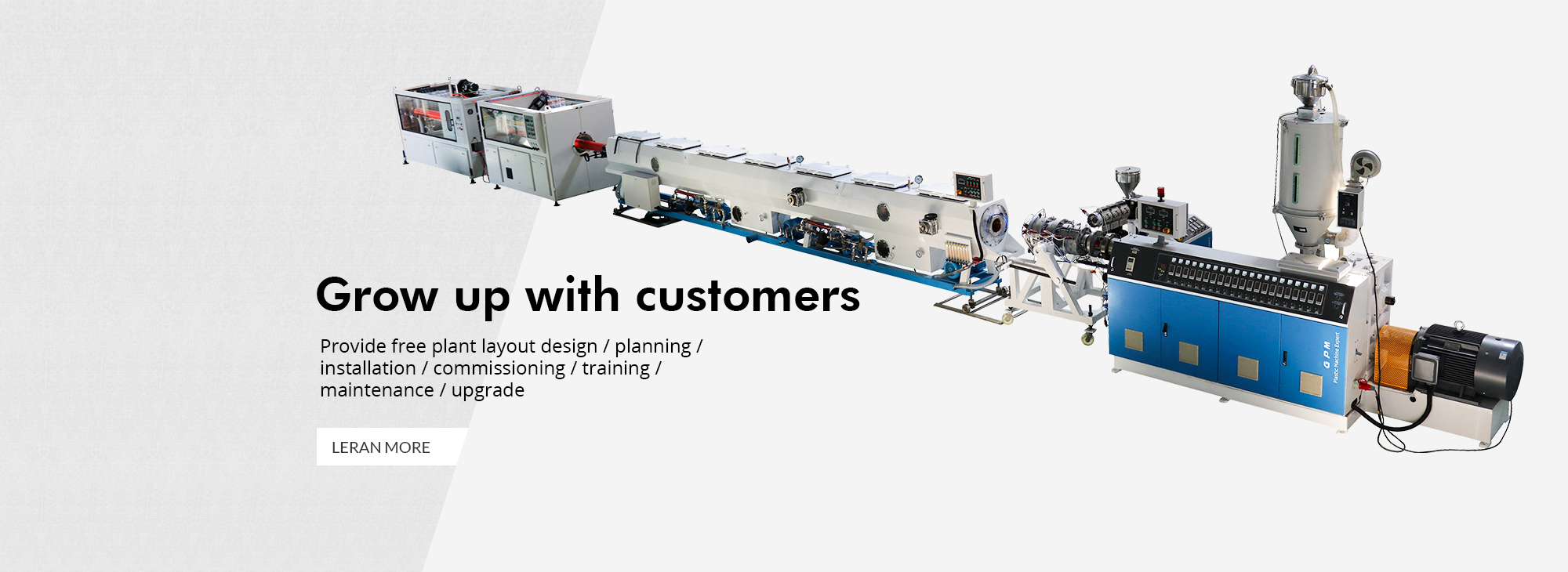GPM pvc pipe extrusion line