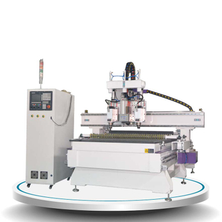 Pneumatic ATC CNC Router Machine Acut-1325 double head with drill