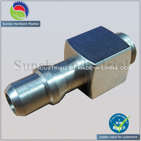 High Precision CNC Turning Parts Aluminium Hose Connector Joint (TU15012)