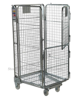 Foldable Distribution 4 Sided Wire Mesh Roller Cage