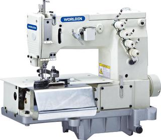Wd-2000c双针平床传送带循环与前织品切割工