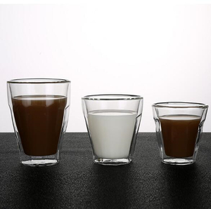 Double wall glass tumblers,glass coffee mug,borosilicate glass,food grade,lead and BPA free