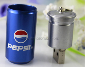 Metal Can Shape Cola Custom Shape Promotional USB Flash Drive
