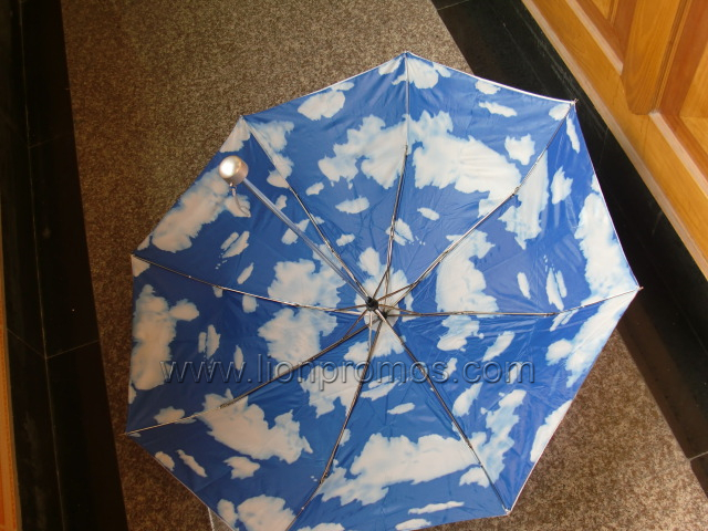 Two Layer Inner Blue Sky Foldable Umbrella