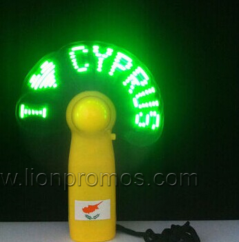 Logo EL Flashing Advertising Electric Fan