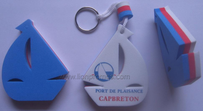 Promotional Gift Custom Shape Printing EVA Key Chain