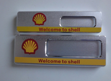 Fine Quality Shell Logo Printed Aluminum Alloy Staff Name Plate