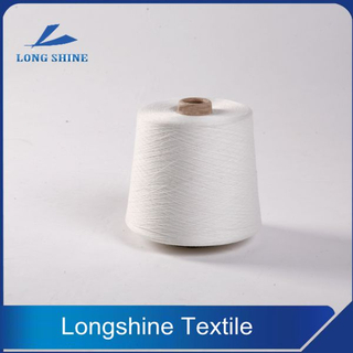 Raw White Polyester Core Spun Yarn Recycled Grade
