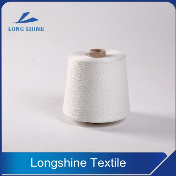 Raw White Polyester Core Spun Yarn with Semi-virgin Grade