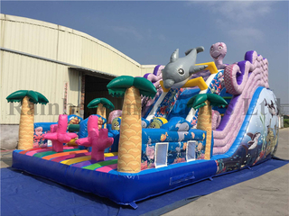RB6001(9x5x6m) Inflatables double lane slip slide sea slide