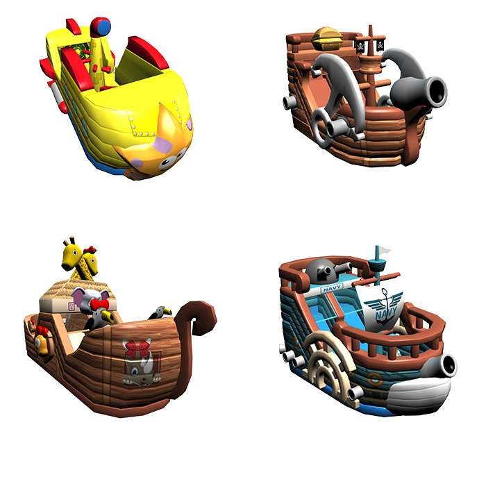 New Design of Inflatable Pirate Ship for Kids