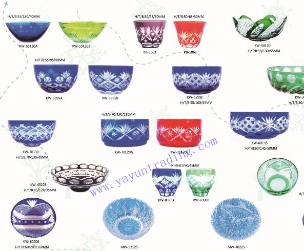 embossed handmade glass bowls and plates
