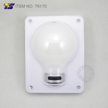Battery operated wall mounted 4 COB LED bulb type cordless switch night light