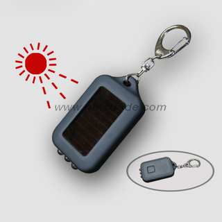 Solar LED Flashlight with Keychain