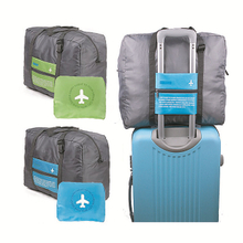 Folded travel bags with custom logo print for luggage