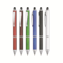 Metal ballpoint pen with print logo and touch function for ipad