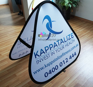Protable POPup Folding Banner, Triangle/Trilateral Pop up a Frame Banner Stand Printing