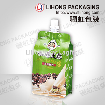 Juice Stand Up Pouch With Spout Food Graded