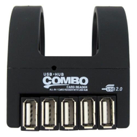 USB Card Reader Combo with Clip