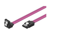 SATA Cable with Clip (7 Pin vertical to Straight plug)