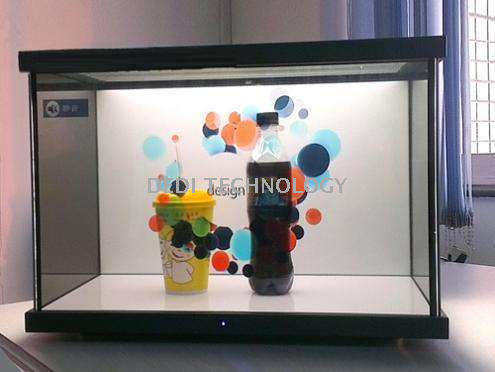 55 Inch Transparent LCD Display Showcase