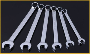 Combination Wrench with Dual Purpose Spanner