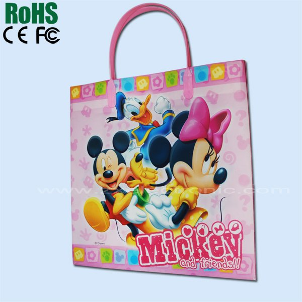 Lovely cartoon paper bag with music