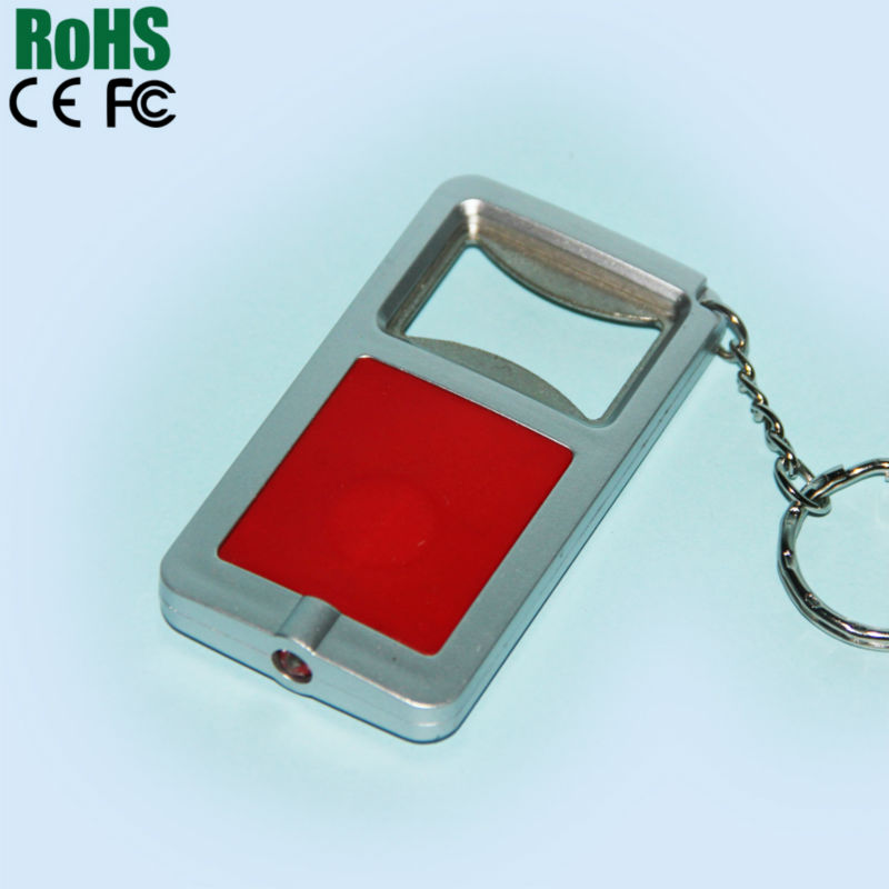Customize led flashlight sound keychain for gift and promotion